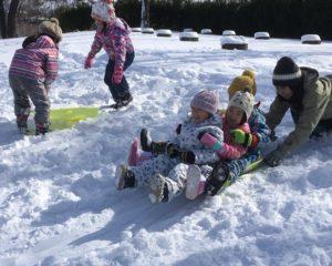 ❄️雪遊び、だ〜いすき❣️