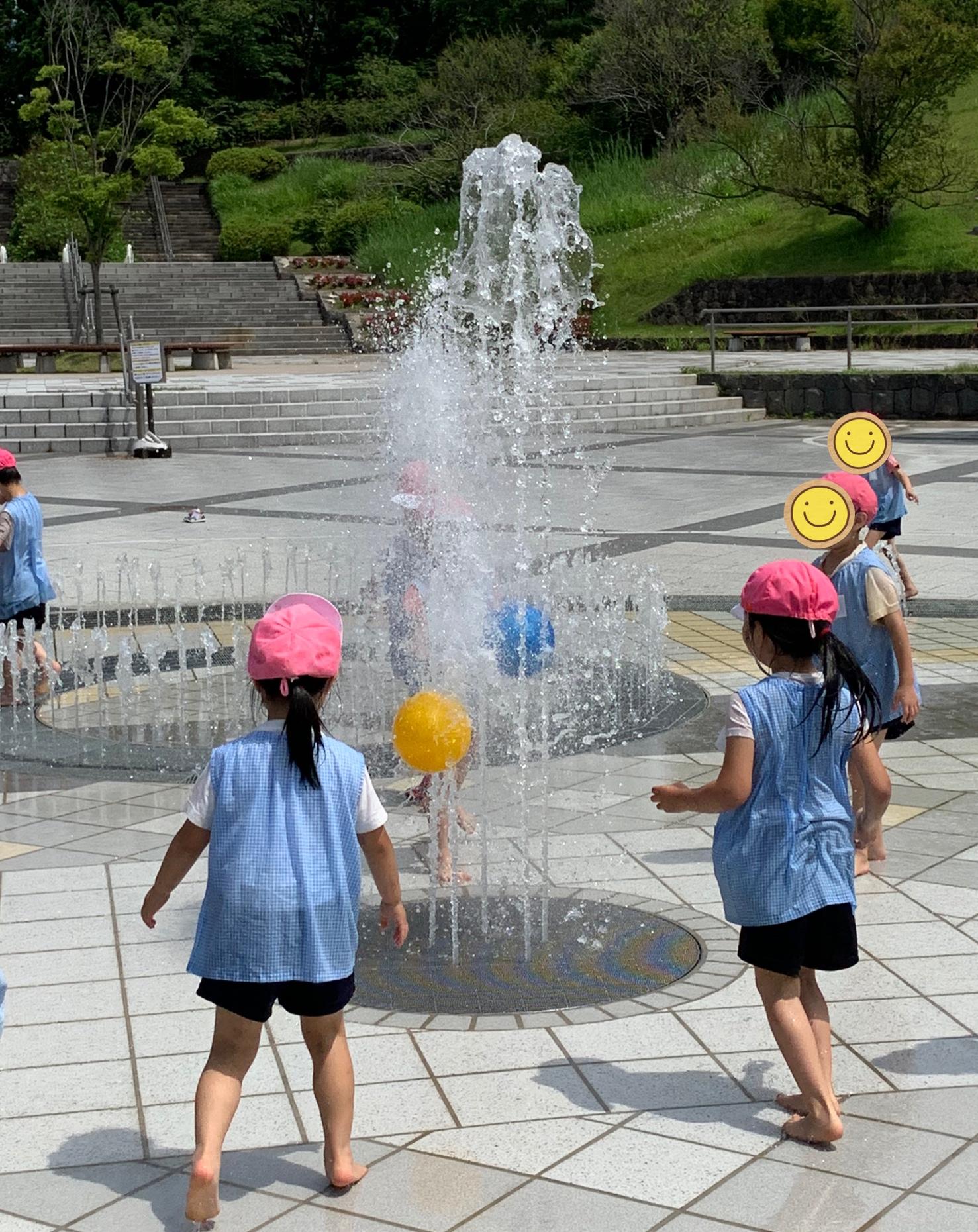 噴水遊びin小泉潟公園